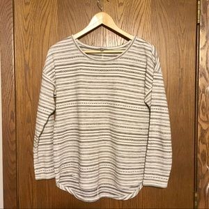 T by Talbots Women's Woven Stripe Top